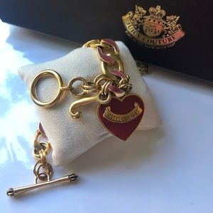 Juicy Couture Gold tone Heart Charm Bracelet